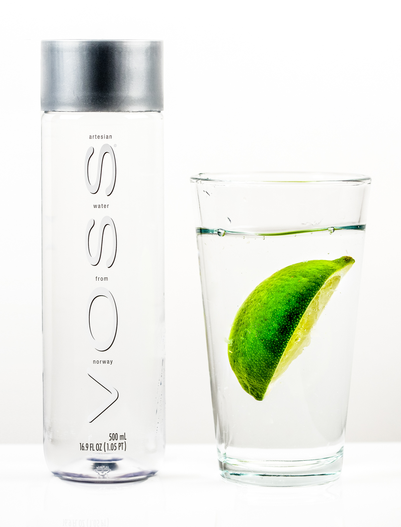 Voss Water Product Photography captured by TOMO Pictures in Charleston, SC