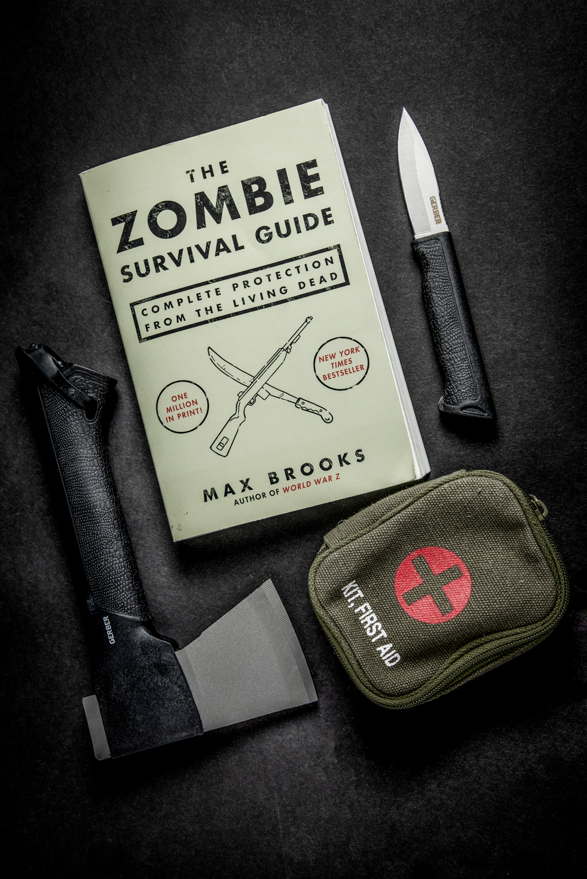 Zombie Survival Guide Product Photography captured by TOMO Pictures in Charleston, SC